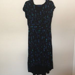 Apt 9 stretchy high low dress